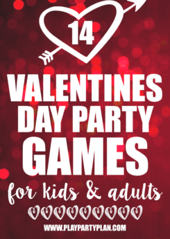 14 hilarious minute to win it Valentine's Day party games that are great ideas for adults, for kids, for teens, and even for playing in the classroom! I love the idea of having an anti Valentines day party and playing these non-romantic games with friends for a little fun!