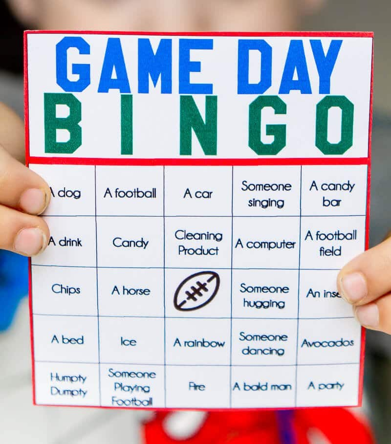 These game day bingo cards are perfect for watching the big game! They're generic enough to work for both kids and adults and for any game!