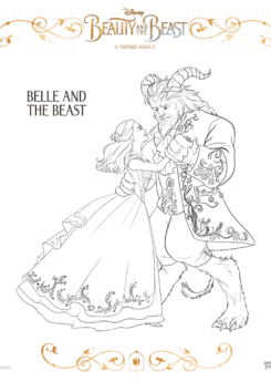 Free printable Beauty and the Beast coloring pages, perfect to keep yourself entertained before the live-action film release in March