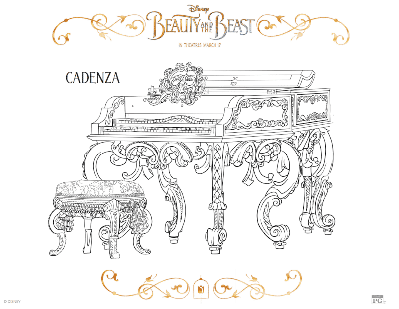 Free Printable Beauty and the Beast