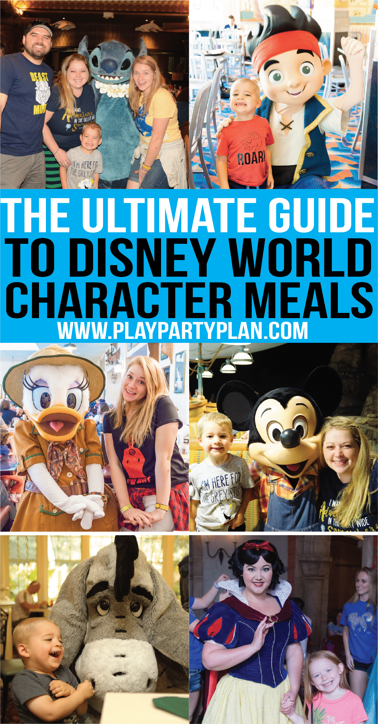 Everything you need to know about Disney character dining at Disney World! Tips for families with young kids, best meals for boys, which restaurants to do dinners or breakfast and more! Updated for 2018!
