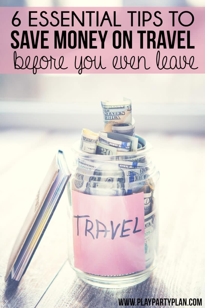 6 essential budget travel tips that you can do before you go - tips for saving money on flights, getting cheap hotels, and more!