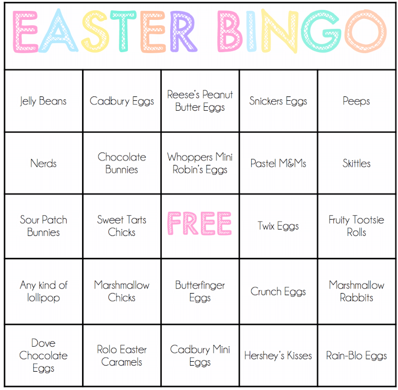 It's just an image of Clever Printable Easter Bingo Cards