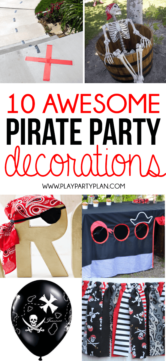 Awesome pirate party decorations including everything from things you can DIY at home for just a few gold coins and things that you can buy quick! Definitely some of the best pirate party ideas too!