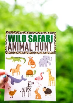 This animal safari scavenger hunt is perfect for an animal safari party or birthday celebration! Perfect for preschool aged kids who love animals! I'm definitely trying these fun scavenger hunt ideas for kids for my son's next party!
