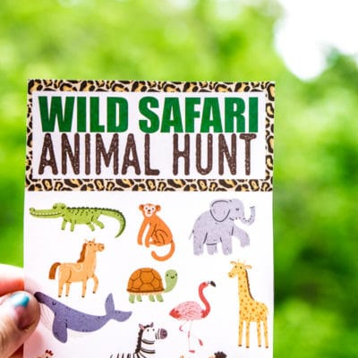 Free Printable Animal Safari Scavenger Hunt