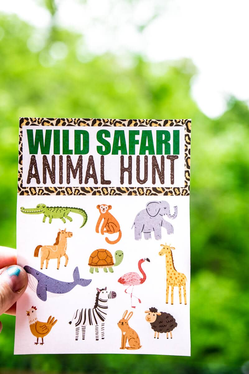 This Animal Safari Scavenger Hunt Is Perfect For An Party Or Birthday Celebration