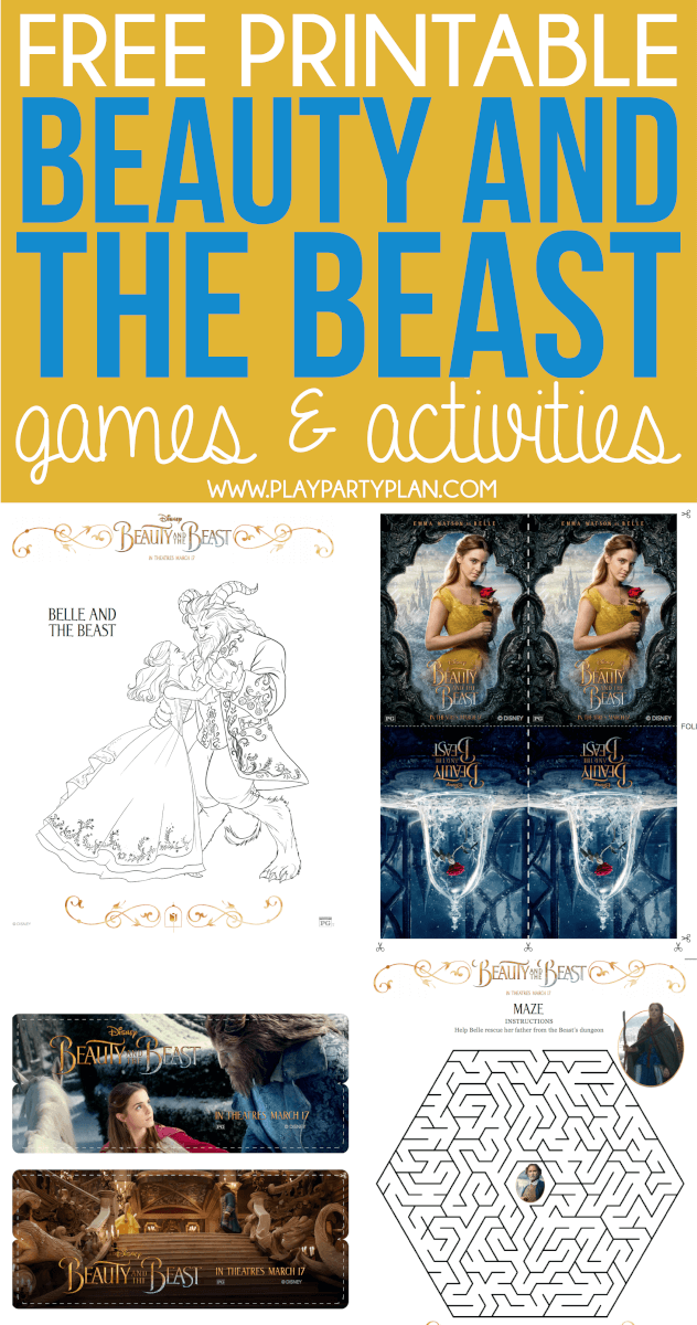 Free Printable Beauty And The Beast Games Activities Coloring Pages More