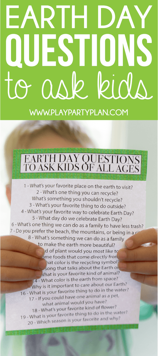 Earth Day quiz questions and activities to do with your kids! Loving this idea of sitting down with your preschooler or older kids and asking these questions!