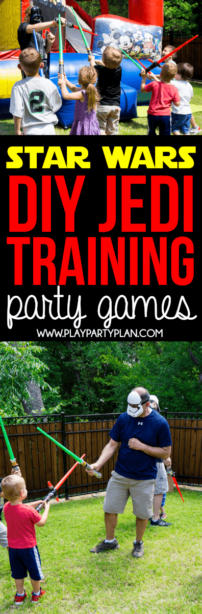Try these fun DIY Jedi Training Academy party games for your next Star Wars birthday or kids party! Great ideas that work for boys, girls, and even a grown up party! Definitely trying these activities with my kids at our next Star Wars party!