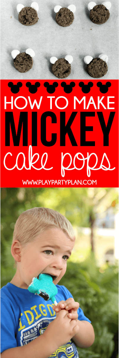 Make these homemade Mickey Mouse cake pops with this simple DIY copycat Disney recipe! They're perfect for a Disney World party or a Mickey Mouse party!