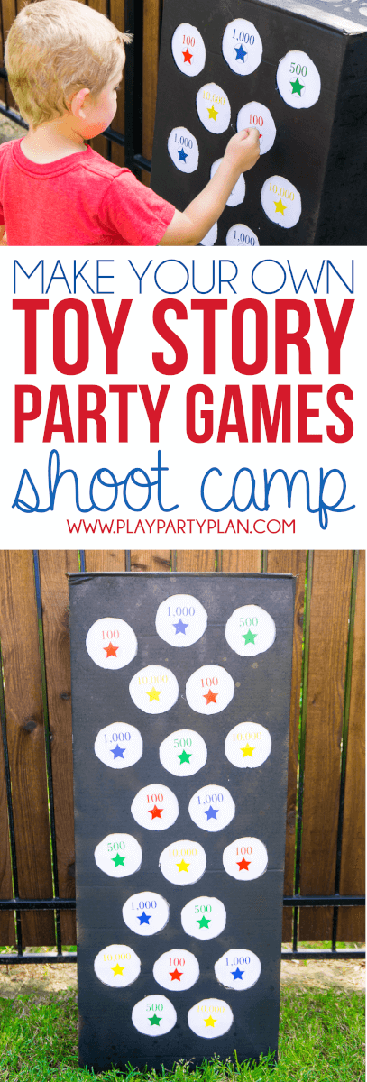Make your own Toy Story Midway Mania games at home with this fun outdoor games tutorial, like this punch box game! Great ideas for having a little Toy Story Mania of your own at home!
