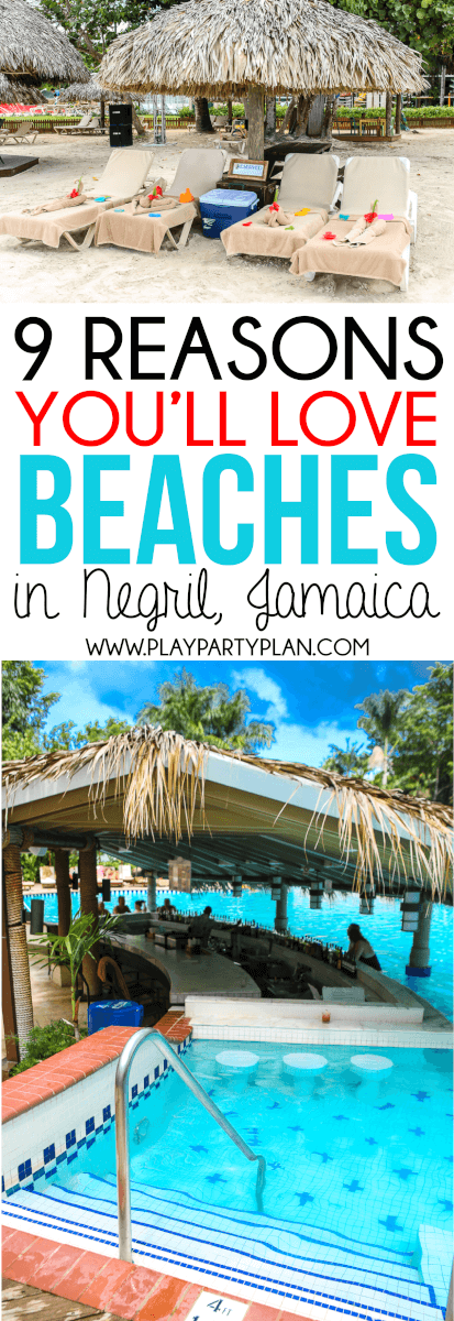 Everything you need to know about Beaches Negril Jamaica and why it's the perfect all-inclusive vacation for families! via @playpartyplan