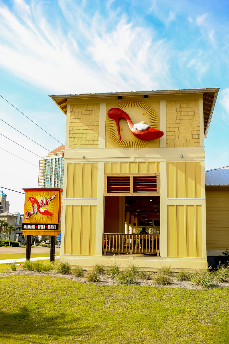 Ruby Slipper Cafe is a Gulf Shores Restaurant best known for its eggs benedict and pig-candy bacon!