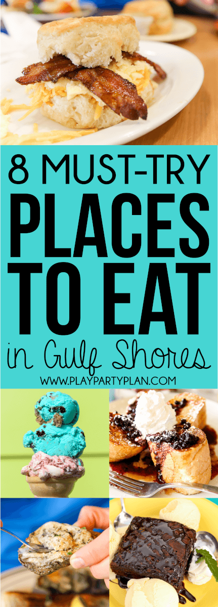 8 Gulf Shores restaurants you must try next time to plan a vacation to Gulf Shores, Alabama!