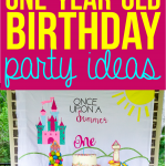 These once upon a summer first birthday ideas are perfect for a one-year-old girl! One of the cutest girl themes I've seen in a long time! Tons of DIY decorations, princess touches, creative party ideas, and even take home gifts for guests. Such a fun and modern theme!