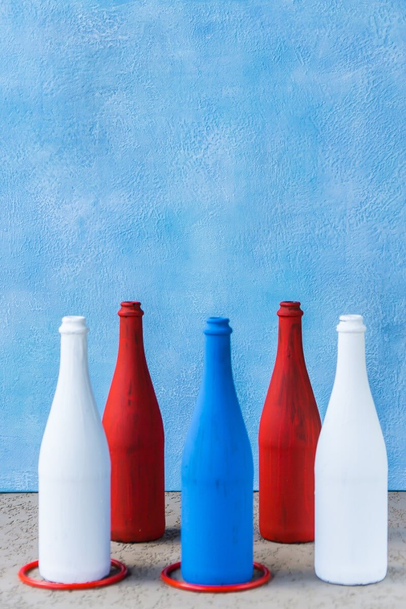 How To Make A Simple Patriotic Diy Ring Toss Game With Bottles