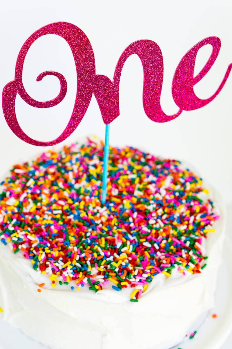 Make these custom DIY birthday cake toppers in just a few simple steps and best of all - you know they're unique because you made them!