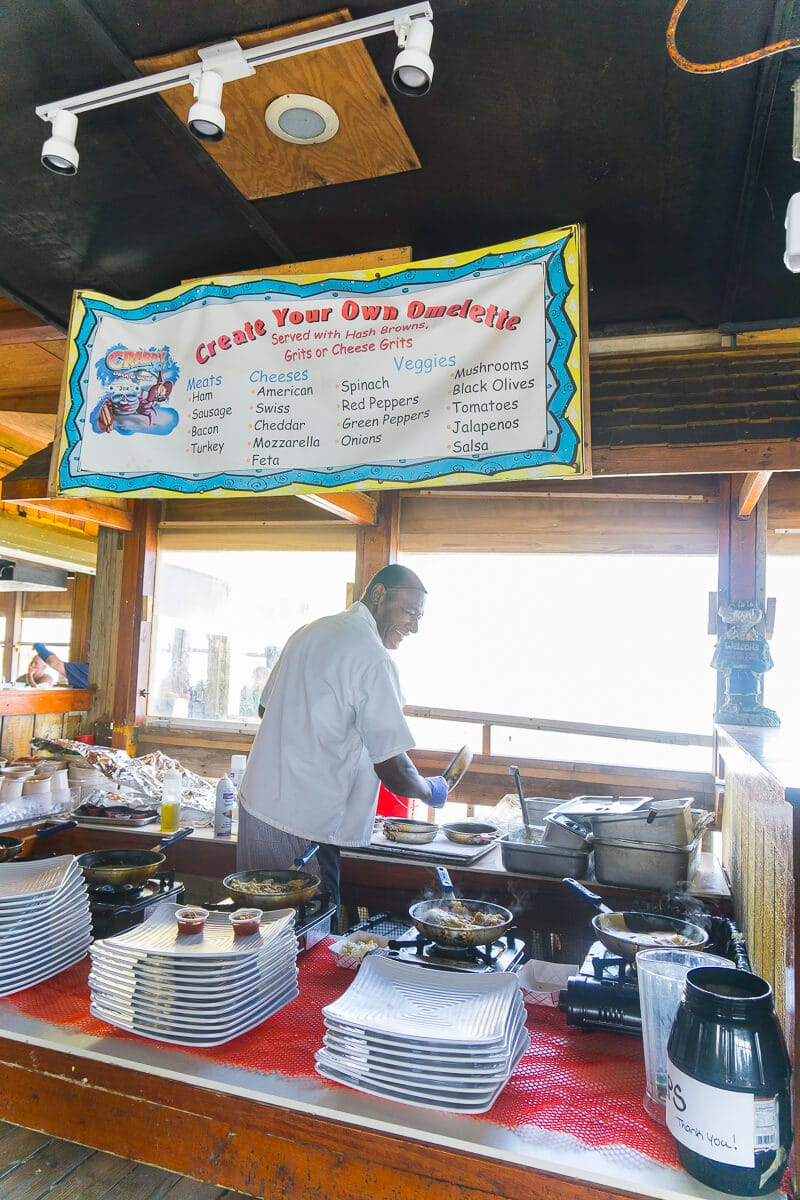 Get made to order omelets at Crabby Joe's in Daytona Beach!