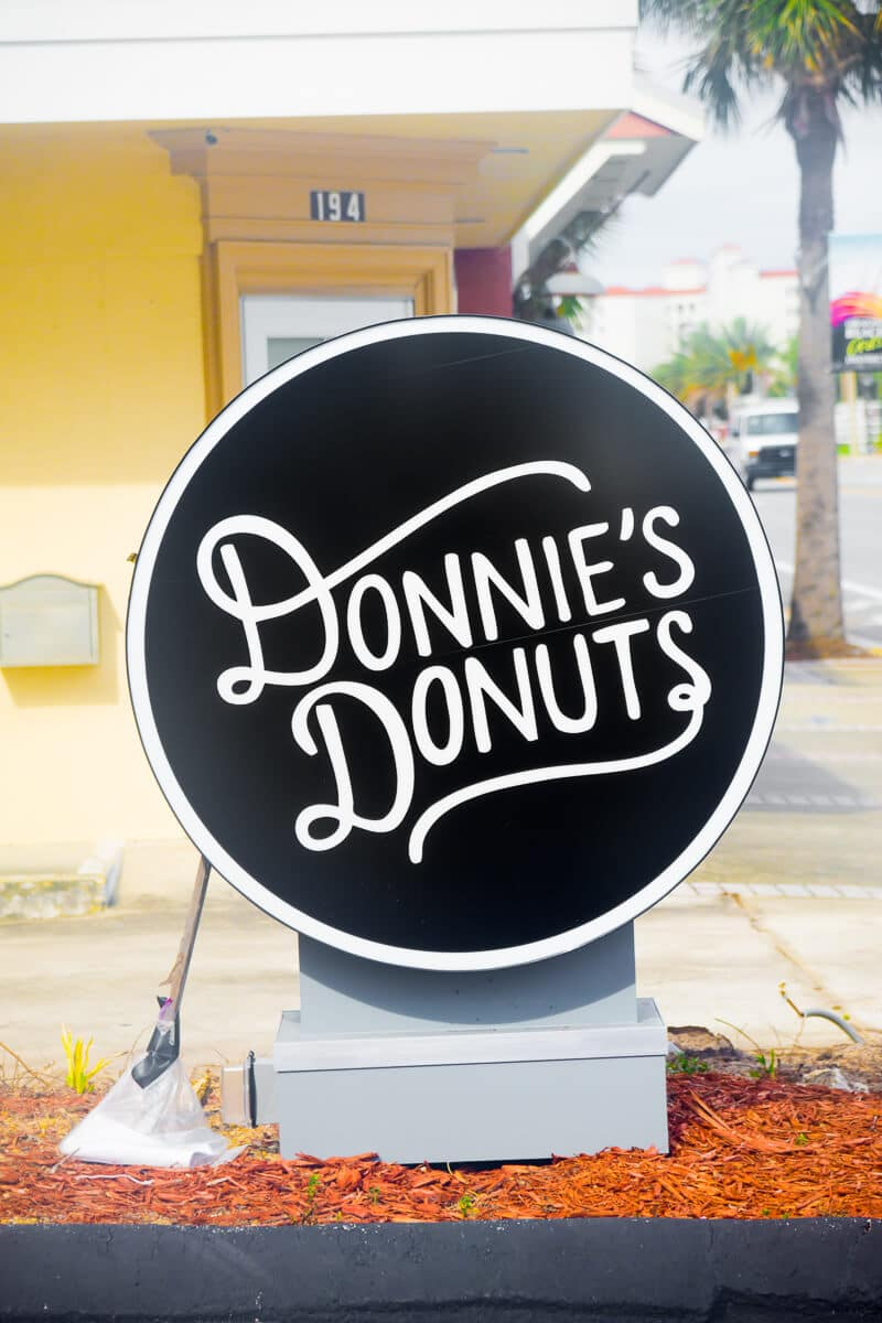 Don't miss Donnie's Donuts, one of the best restaurants in Daytona Beach!