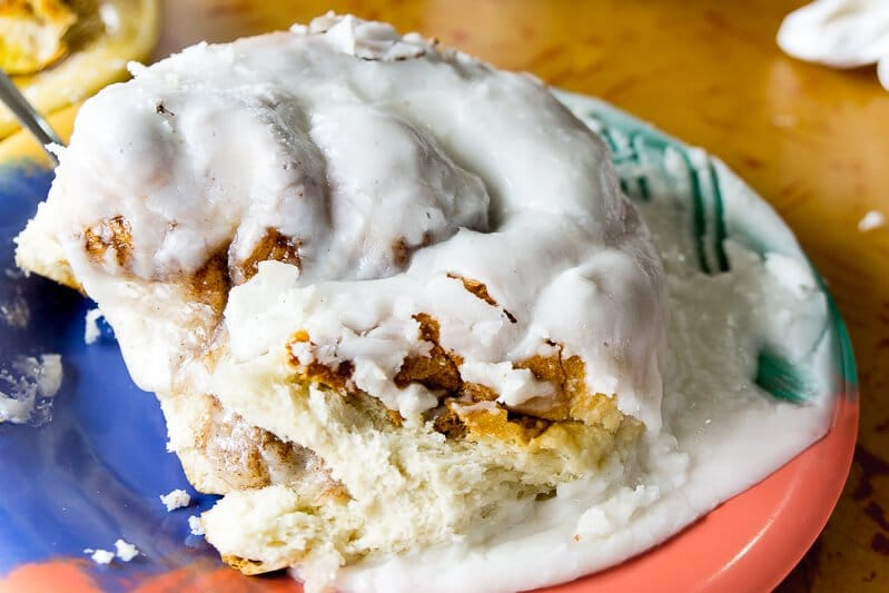The massive cinnamon rolls at Mike's Galley makes it one of the most popular restaurants in Daytona Beach!