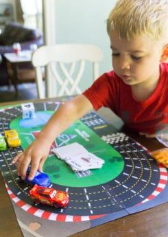 Free printable Disney Pixar Cars 3 games like the racetrack board game