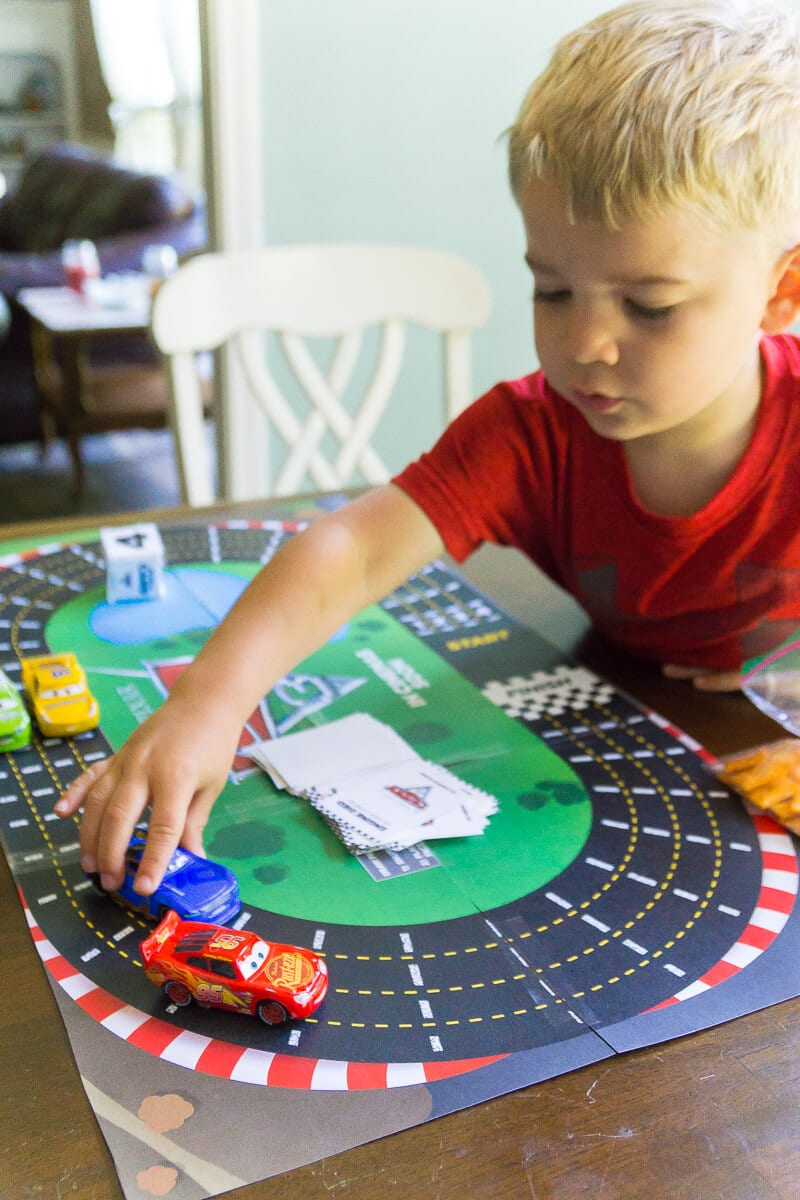 Free printable Disney Pixar Cars 3 games like the racetrack board game