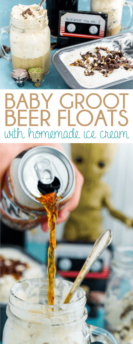 This Guardians of the Galaxy Groot inspired root beer float recipe will have you feeling like you can save the world!