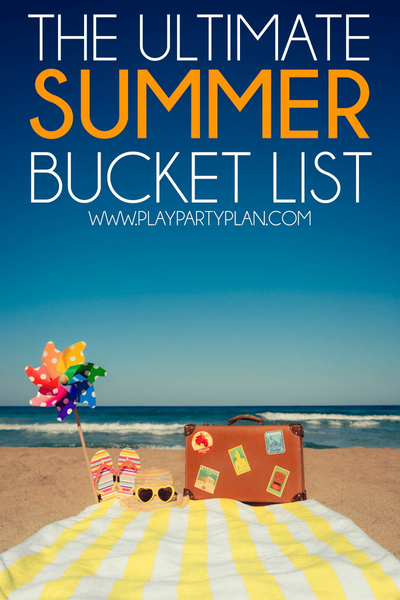 The best summer bucket list! Ideas for kids, for teens, for best friends, and even for couples or a family to do together. Pick from these summer bucket list ideas to make your own family bucket list! via @playpartyplan