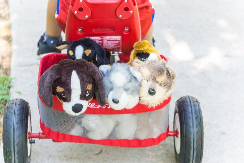 Plenty of space in the Radio Flyer trike to bring friends along on our bucket list adventures