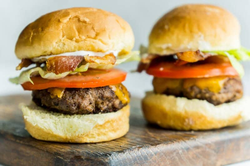 Add bacon and ranch dip to beef sliders for one delicious meal!