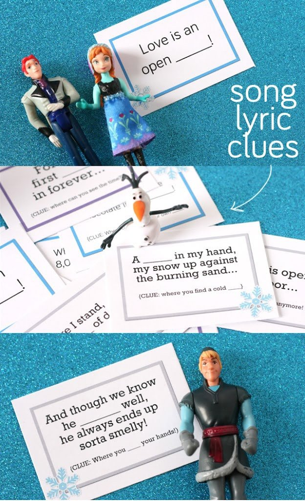 This scavenger hunt makes one of the best Disney frozen games ever