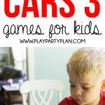 Free printable Disney Pixar Cars 3 games for kids!