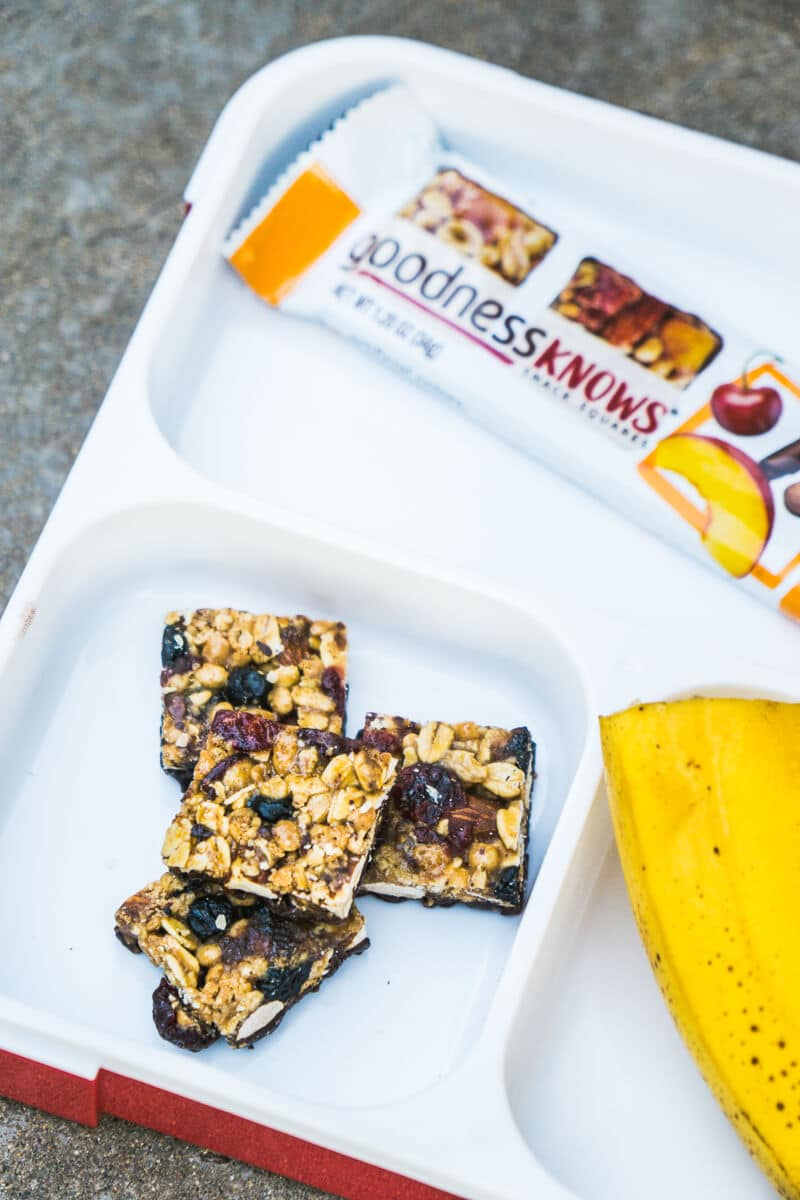 Be mindful of your snacking with goodnessKNOWS snack squares.