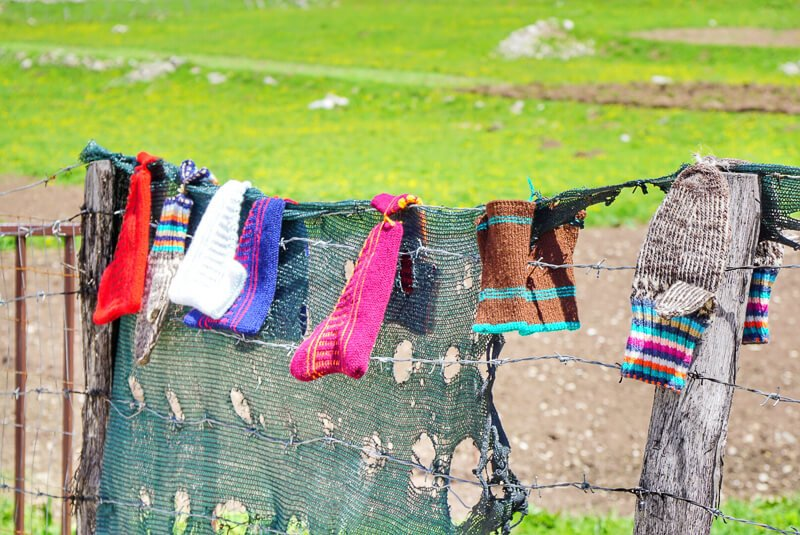 Priglave one size fits all knitted socks in Bosnia