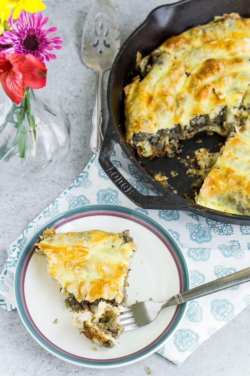 Save me a piece of this Bosnian burek pie