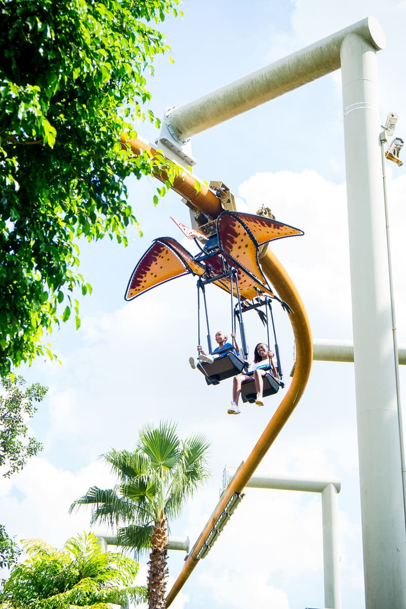 Pteradon Flyers in Camp Jurassic is one of our favorite rides at Universal Studios