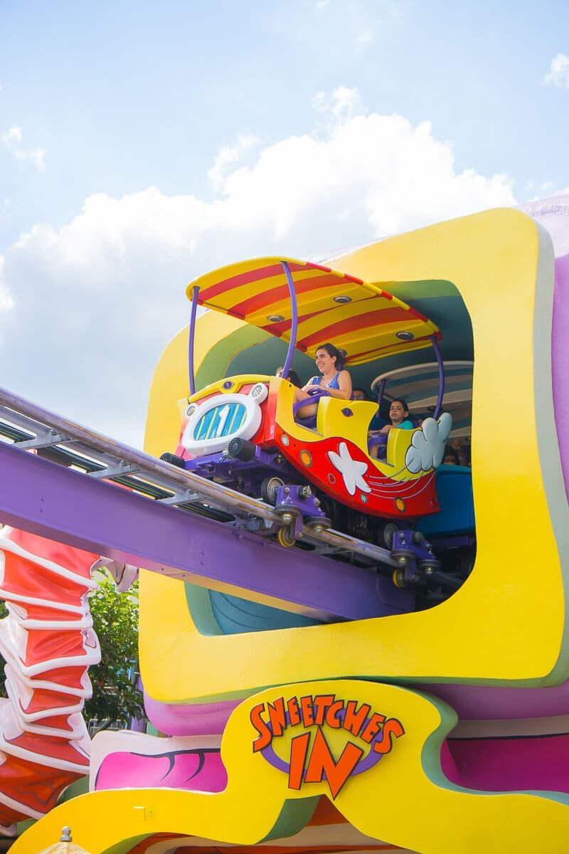 Dr. Seuss Trolley ride is designed after the Sneetches book