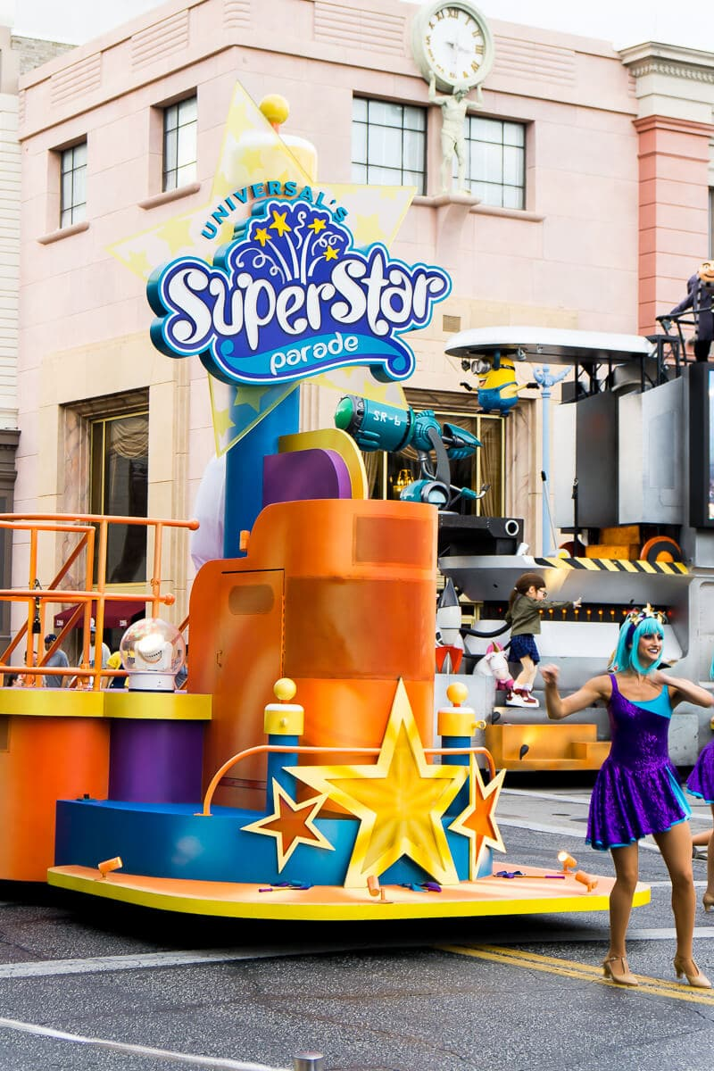 Superstar Parade at Universal Studios Orlando is a fun short event