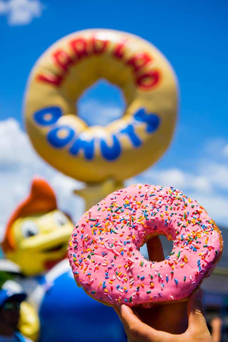 The Big Pink donut at Universal Studios Orlando