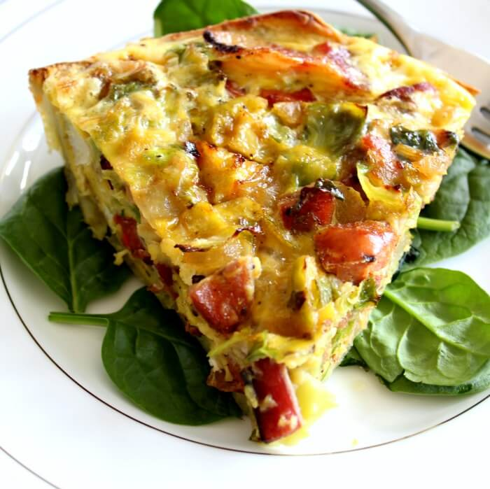Sweet potato crust quiche is perfect for the whole 30 challenge