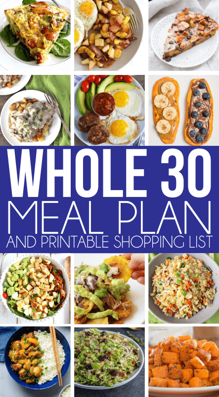 A great Whole 30 meal plan for anyone on the Whole 30 diet