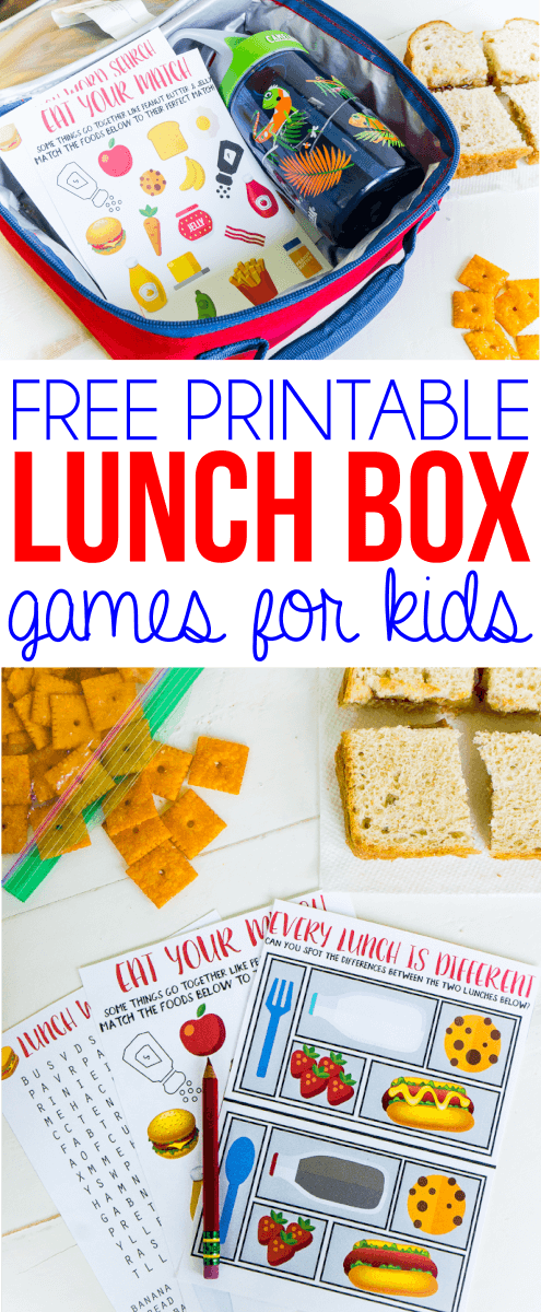 Lunch box games for kids are the best