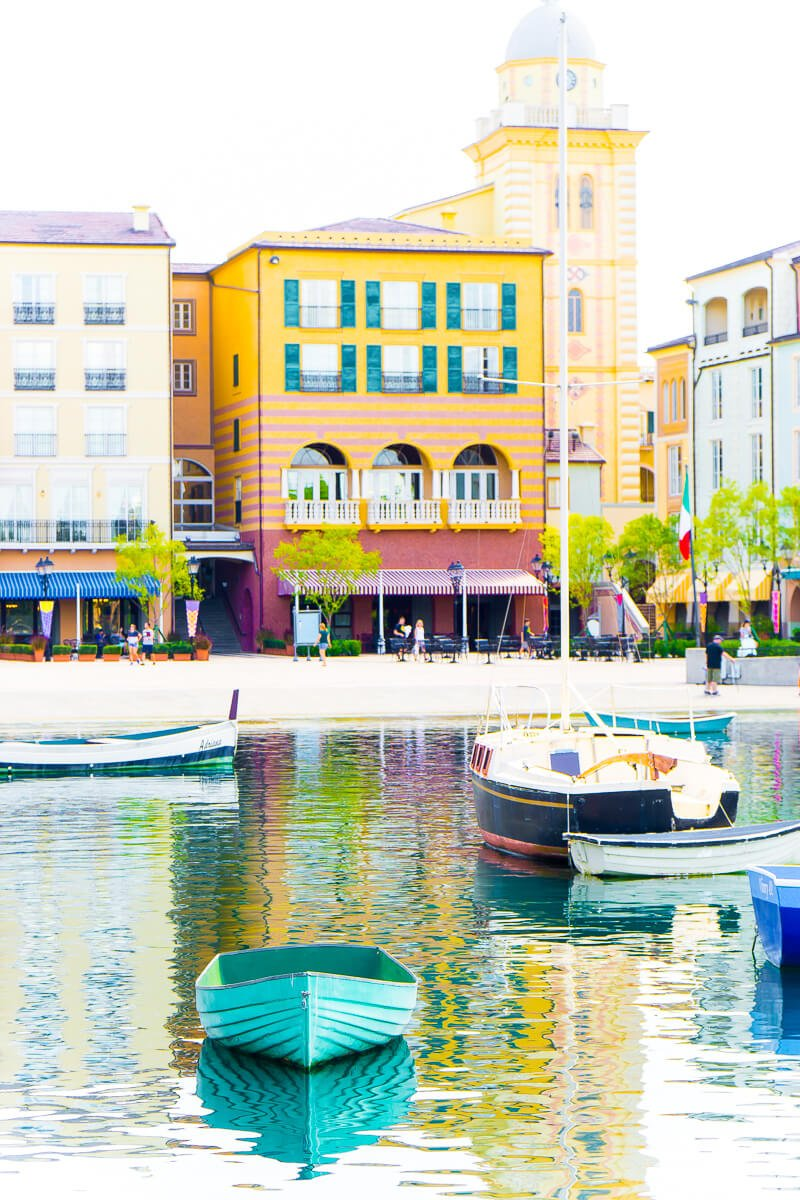 Beautiful Italian theming at Loews Portofino Bay Hotel
