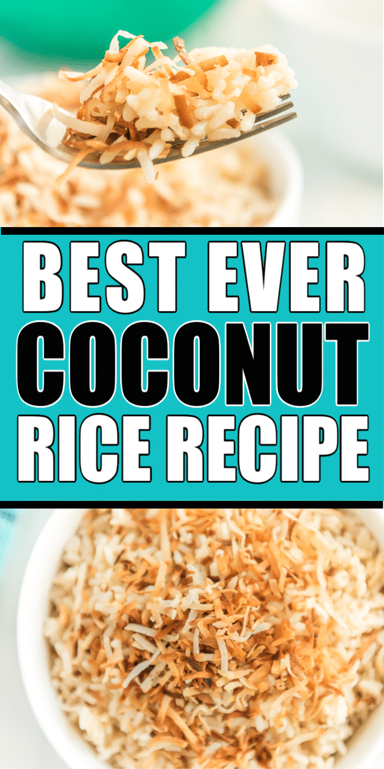 An easy coconut rice recipe you can make in the rice cooker! via @playpartyplan
