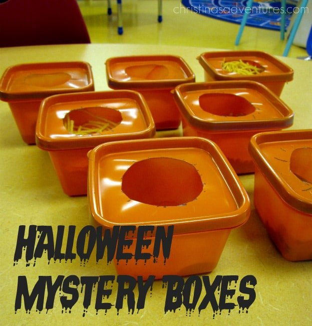 Having kids go through mystery boxes is one of the most fun Halloween games there is