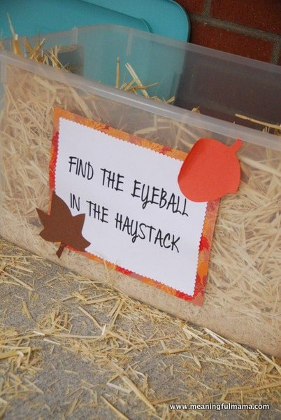 Finding an eyeball in a haystack is one of the most fun Halloween games