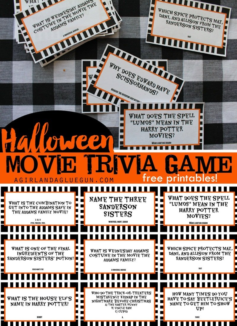 halloween movie trivia is one of the most fun halloween games
