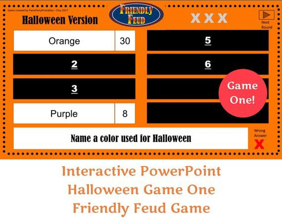 This Halloween feud game is one of the best Halloween games for adults