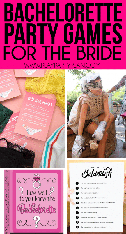 Great bachelorette party games that put the bride on the spot